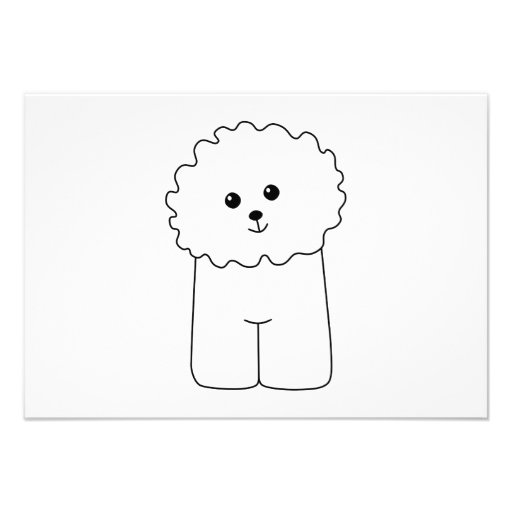 Bichon Frise, Cute Dog. Personalized Invitation