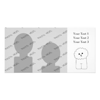 Bichon Frise, Cute Dog. Customized Photo Card