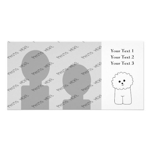 Bichon Frise, Cute Dog. Customized Photo Card