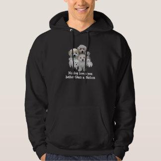 Bichon Frise Puppies Unisex Hooded Sweatshirt
