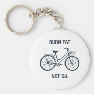 Bicycle Burn fat not oil Key Ring