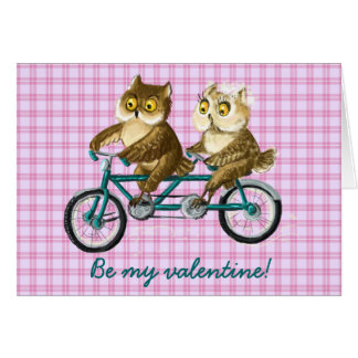 Bicycle owls greeting card