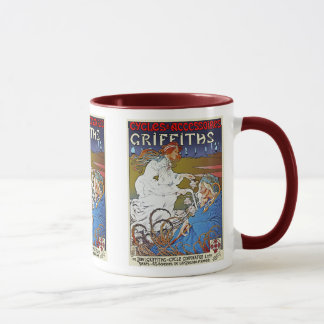 Bicycle Poster Advertisement: Griffiths Cycles Mug