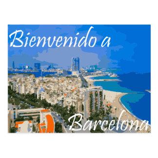 Bienvendio a Barcelona Postcard