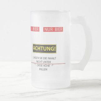 Bier level frosted glass mug