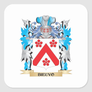 Bieuvo Coat of Arms Square Stickers