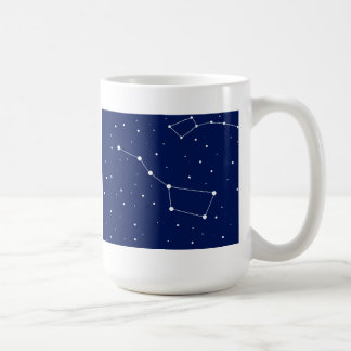 big and little basic white mug