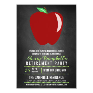 Big Apple Teacher Retirement Party Invitations