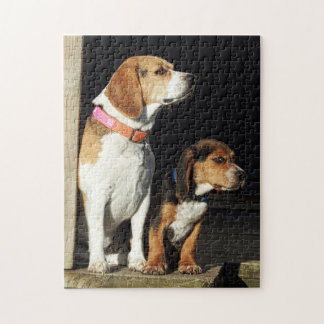 Big Beagle Sister & Little Brother Beagle Jigsaw Puzzle
