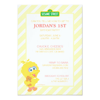 Big Bird Baby Birthday Card
