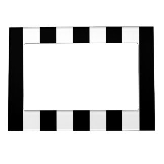 Big Black Stripes on Customisable Background Magnetic Picture Frame