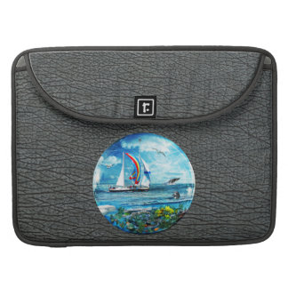 Big Blue Ocean Bubble Natures Playground Sleeve For MacBooks