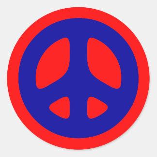 Big Blue Peace Sign Sticker