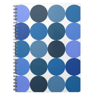 Big Blue Polka Dots Spiral Notebook