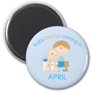 Big Brother Baby Brother Due in April Magnet