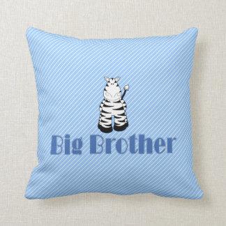 Big Brother Cute Zebra Throw Pillow