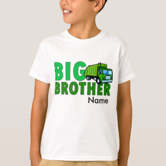 Big Brother Garbage truck with personalized name T-Shirt