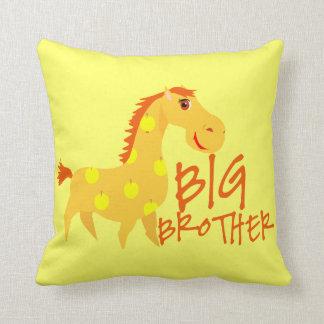 Big Brother Giraffe Throw Pillow