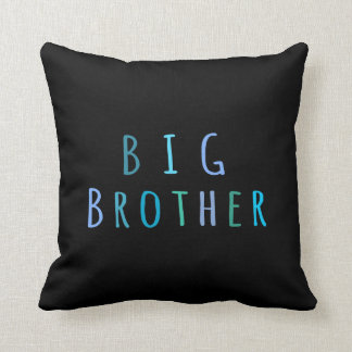 Big Brother in blue Throw Pillow