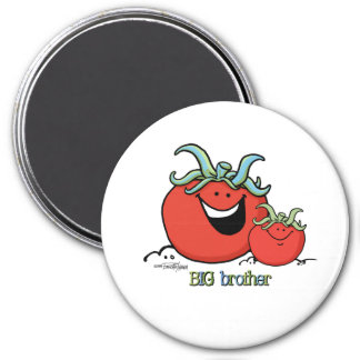 Big Brother - little sibling - Tomato 7.5 Cm Round Magnet