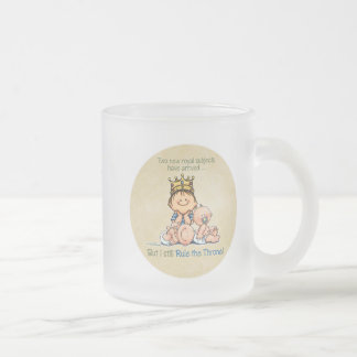 Big Brother of Twins Frosted Glass Coffee Mug