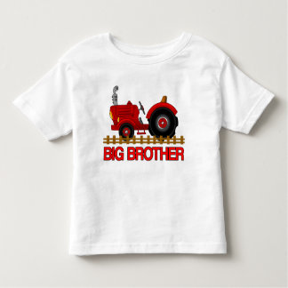 Big Brother Red Tractor Shirt cute announcement