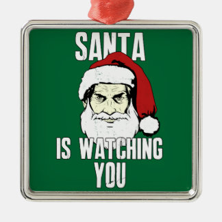 Big Brother Santa Claus Is Watching You Christmas Ornament