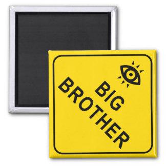 Big Brother Square Magnet