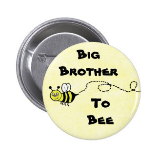 Big Brother To Be (Bee) Yellow  Baby Shower Button