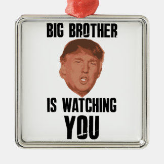 Big Brother Trump Silver-Colored Square Decoration
