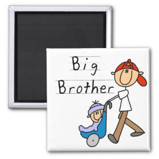 Big Brother with Little Brother Tshirts and Gifts Square Magnet