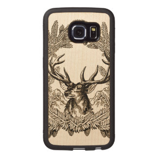 Big Buck Wood Phone Case