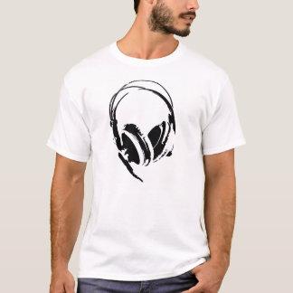 big dj headphones music t-shirt
