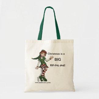 Big Elf-ing Deal Budget Tote Bag