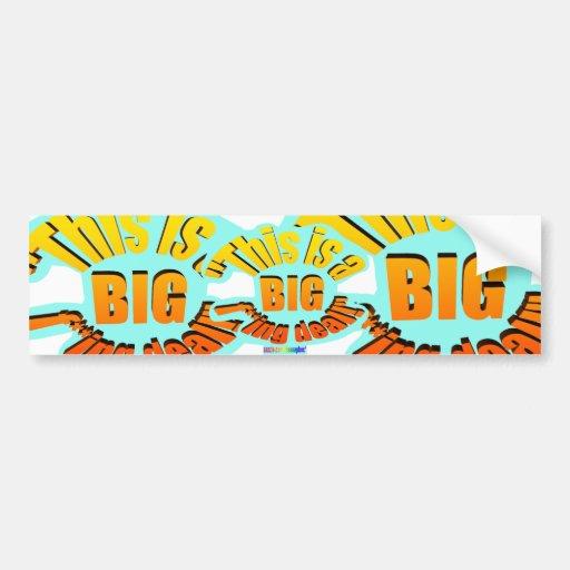 BIG F-ing Deal Bumper Stickers