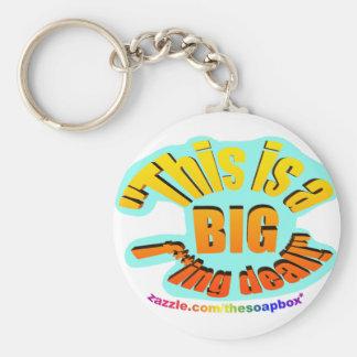 BIG F-ing Deal Basic Round Button Key Ring