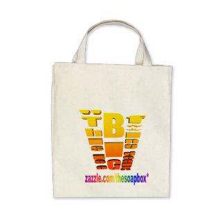 BIG Fing Deal Vertical Trans Canvas Bag