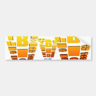 BIG Fing Deal Vertical Trans Bumper Sticker
