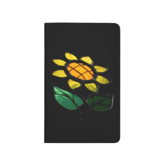 Big Flower Stained Glass Pocket Journal