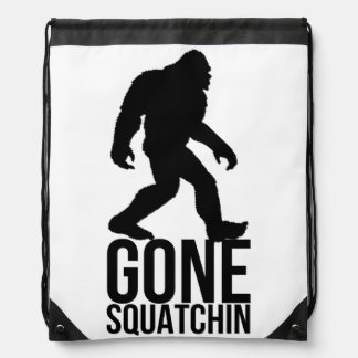 Big foot gone squatchin drawstring bag