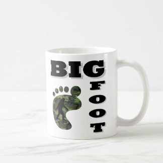 Big foot with foot logo coffee mug