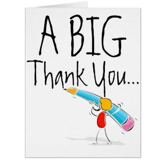 Big Giant Thank You Card