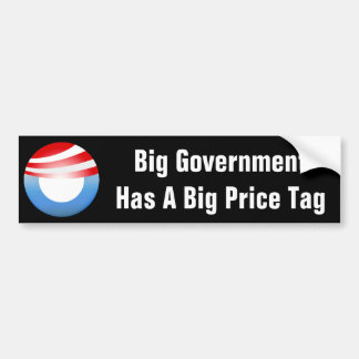 Big Government Costs Us Bumper Sticker