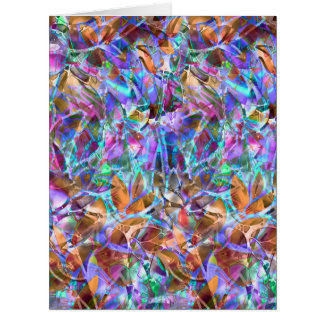Big Greeting Card Floral Abstract Stained Glass