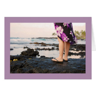 Big Island of Hawaii Lava Rock Blank Greeting Card