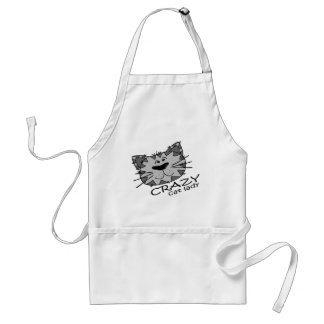 Big Kitty Face Crazy Cat Lady Adult Apron