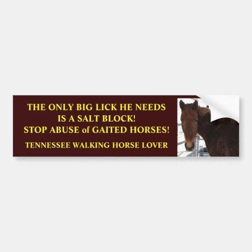Big Lick - Tennessee Walking Horses Bumper Stickers
