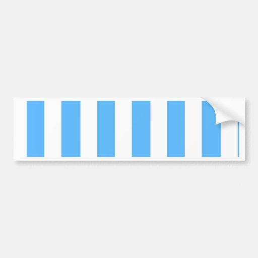 Big light blue strips white vertical pattern fun bumper stickers