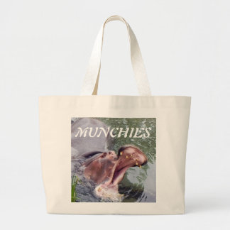 Big Mouth Hippo Large Tote Bag