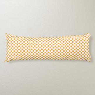 Big Orange Dots on White Body Cushion